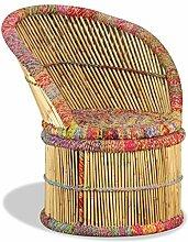 vidaXL Stuhl Bambus Handarbeit Chindi Sessel