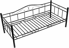 vidaXL Tagesbett Einzelbett 90x200 Metallbett