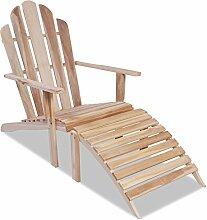 vidaXL Teak Adirondack Chair Deckchair Stuhl