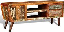 vidaXL Teak Antik TV Hifi Rack Lowboard Sideboard