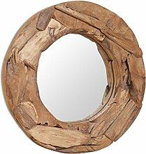 vidaXL Teak Dekorativer Spiegel 60cm Holzspiegel