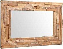 vidaXL Teak Dekorativer Spiegel 90x60cm