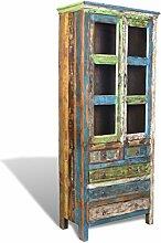 vidaXL Teak Massivholz Antik Vintage Anrichte
