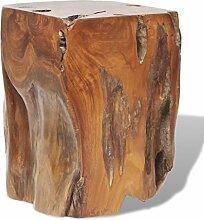 vidaXL Teak Massivholz Hocker Sitzhocker Block Beistelltisch Stuhl 30x30x40 cm