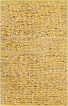 vidaXL Teppich Handgefertigt Jute Gelb und Natur