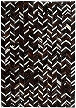 vidaXL Teppich Leder Kuhleder Patchwork 120x170cm