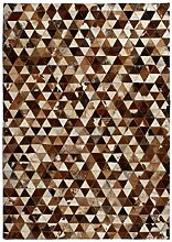 vidaXL Teppich Leder Kuhleder Patchwork 80x150cm