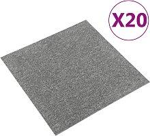 vidaXL Teppichfliesen 20 Stk. 5 m² 50x50 cm Grau