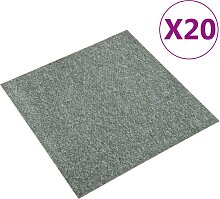 vidaXL Teppichfliesen 20 Stk. 5 m² 50x50 cm Grün