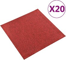 vidaXL Teppichfliesen 20 Stk. 5 m² 50x50 cm Rot