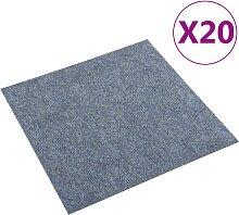 vidaXL Teppichfliesen 20 Stk. 5 m² Blau