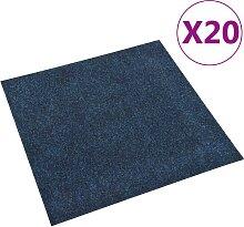 vidaXL Teppichfliesen 20 Stk. 5 m² Marineblau