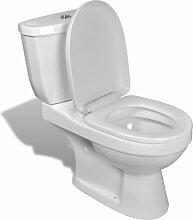 vidaXL Toilette mit Spülkasten Weiß