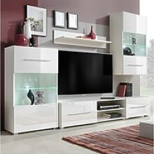 vidaXL TV-Bank vidaXL 5tlg. Hochglanz Wohnwand