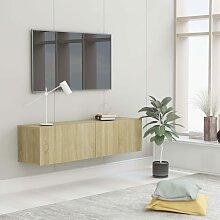 vidaXL TV-Schrank Sonoma-Eiche 120 x 30 x 30 cm