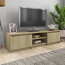 vidaXL TV-Schrank Sonoma-Eiche 140×40×35,5 cm
