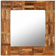 vidaXL Wandspiegel Altholz 60x60cm Badspiegel