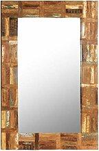 vidaXL Wandspiegel Altholz 60x90cm Badspiegel