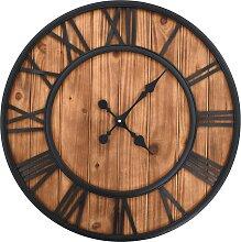 vidaXL Wanduhr Vintage mit Quarzwerk Holz und