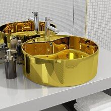 vidaXL Waschbecken mit Überlauf 46,5 x 15,5 cm