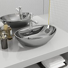 vidaXL Waschbecken mit Überlauf 58,5 x 39 x 21 cm