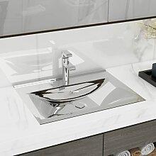 vidaXL Waschbecken mit Überlauf 60 x 46 x 16 cm
