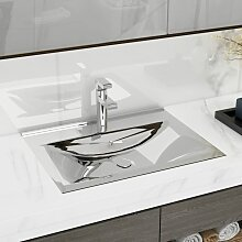 vidaXL Waschbecken mit Überlauf 60x46x16 cm