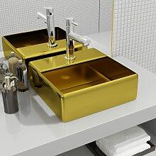 vidaXL Waschbecken mit Wasserhahnloch 38 x 30 x