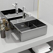 vidaXL Waschbecken mit Wasserhahnloch 38x30x11,5cm