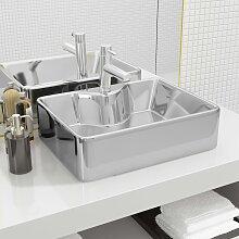 vidaXL Waschbecken mit Wasserhahnloch 48x37x13,5cm