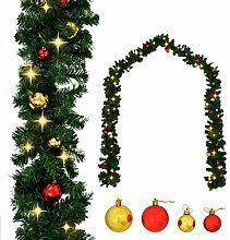 vidaXL Weihnachtsgirlande mit Kugeln LED-Lichtern