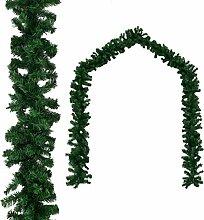 vidaXL Weihnachtsgirlande PVC 5m Tannengirlande