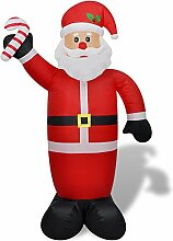 vidaXL Weihnachtsmann Aufblasbar 240cm LED Licht