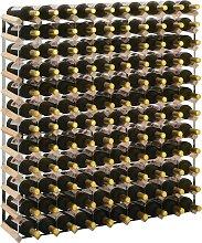vidaXL Weinregal für 120 Flaschen Massivholz