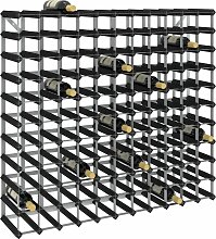 vidaXL Weinregal für 120 Flaschen Schwarz