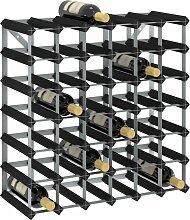 vidaXL Weinregal für 42 Flaschen Schwarz