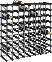 vidaXL Weinregal für 72 Flaschen Schwarz