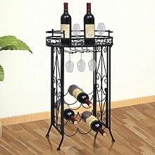 vidaXL Weinregal für 9 Flaschen mit