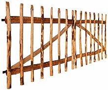 vidaXL Zauntor Doppelflügelig Zaunelement Holztor