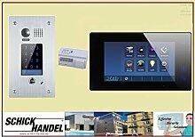 Video Türsprechanlage Türklingel DT601F/KP Sensor Zahlencode-Eingabefeld für Türöffner & T47M Videospeicher Monitor kapazitiver Touch 1 Sprechanlagen Monitor schwarz