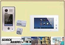 Video Türsprechanlage Türklingel DT601S/ID & T47M Videospeicher Monitor kapazitiver Touch 1 Sprechanlagen Monitor weiß