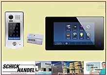 Video Türsprechanlage Türklingel DT601S/KP Aufputz Sensor Zahlencode-Eingabefeld für Türöffner & T47M Videospeicher Monitor kapazitiver Touch 1 Sprechanlagen Monitor schwarz