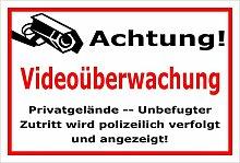 Video-Überwachung Aufkleber - Achtung