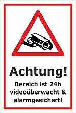 Video-Überwachung Aufkleber - Bereich 24h -