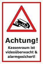 Video-Überwachung Aufkleber - Kassenraum -