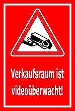 Video-Überwachung Aufkleber - Verkaufsraum