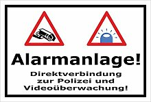 Video-Überwachung Schild - Alarmanlage -