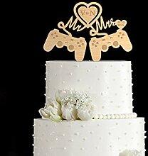 Videospiel Hochzeit Kuchen Topper Video Game Cake