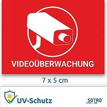 Videoüberwachung Aufkleber Sticker Warnaufkleber