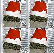Videx 4X Pflanzen-Winterschutz Weihnachtsmütze